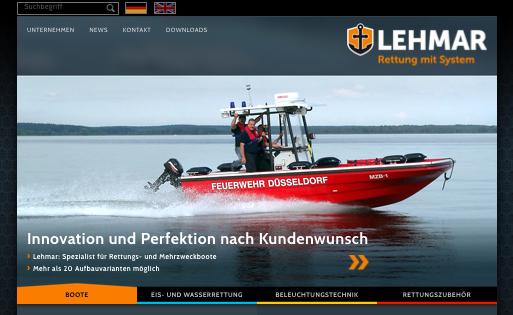 Die Rettungswebsite »www.lehmar.de« im neuen Look.