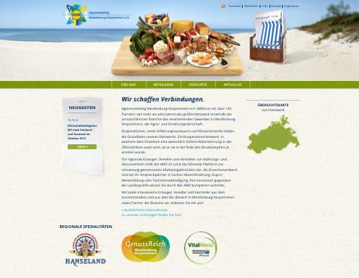 Jetzt ganz frisch – die neue, umfangreiche AMV-Website.