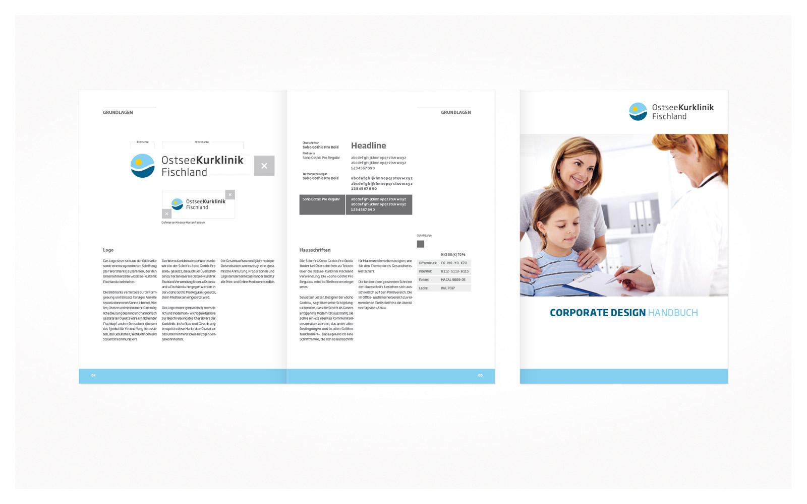 Corporate Design Handbuch | Ostseekurklinik Wustrow Logoentwicklung Und Corporate Design